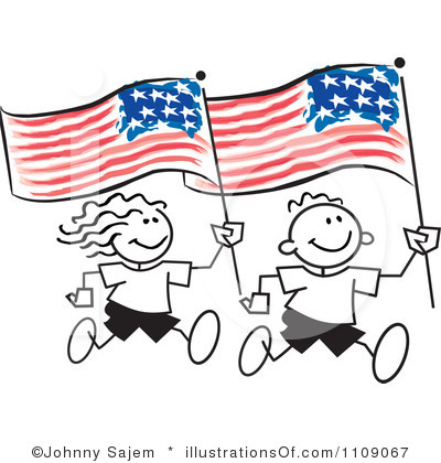 4th Of July Clipart Black And White Royalty Free American Flag Clipart