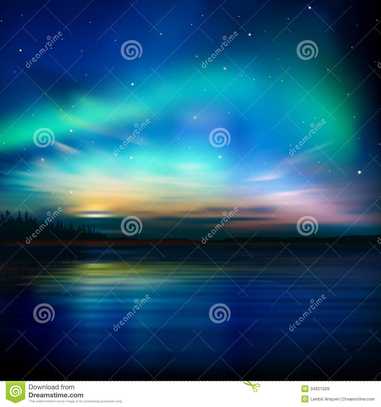 Abstract Background With Sunset And Mountains Royalty Free Stock