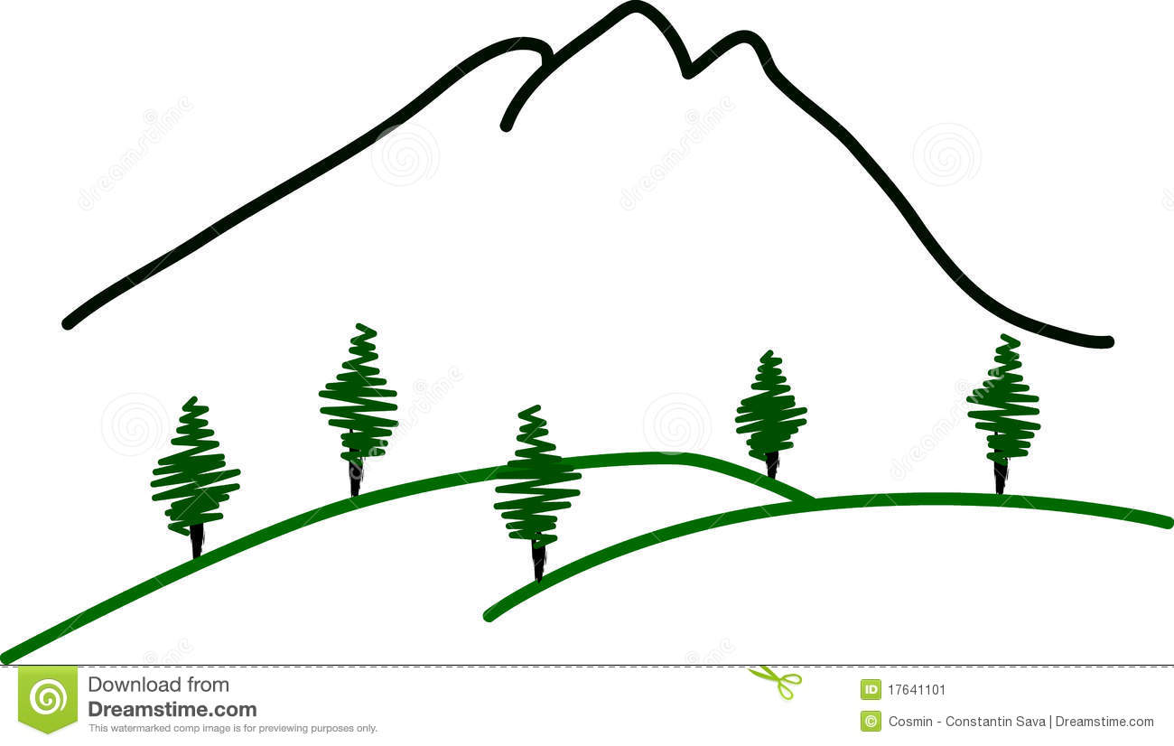 Abstract Mountain Landscape Stock Image   Image  17641101