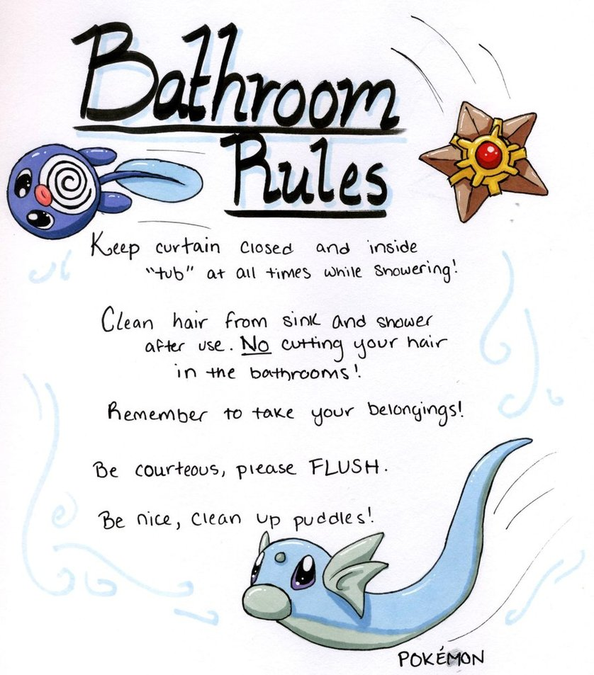 Bathroom Rules By Katwynn On Deviantart