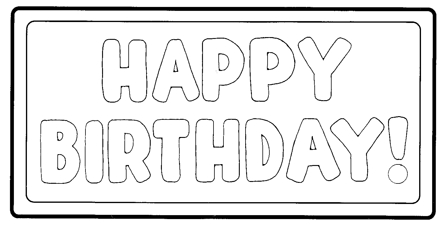 Happy Birthday Black And White Clipart - Clipart Suggest