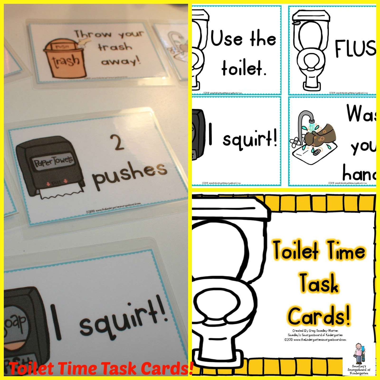 Boys Bathroom Sign Clipart Toilet Task Cards  True Story