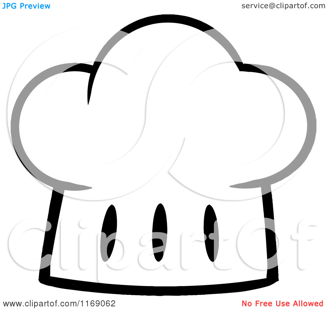Chef Hat Clipart Black And White  Free download best Chef