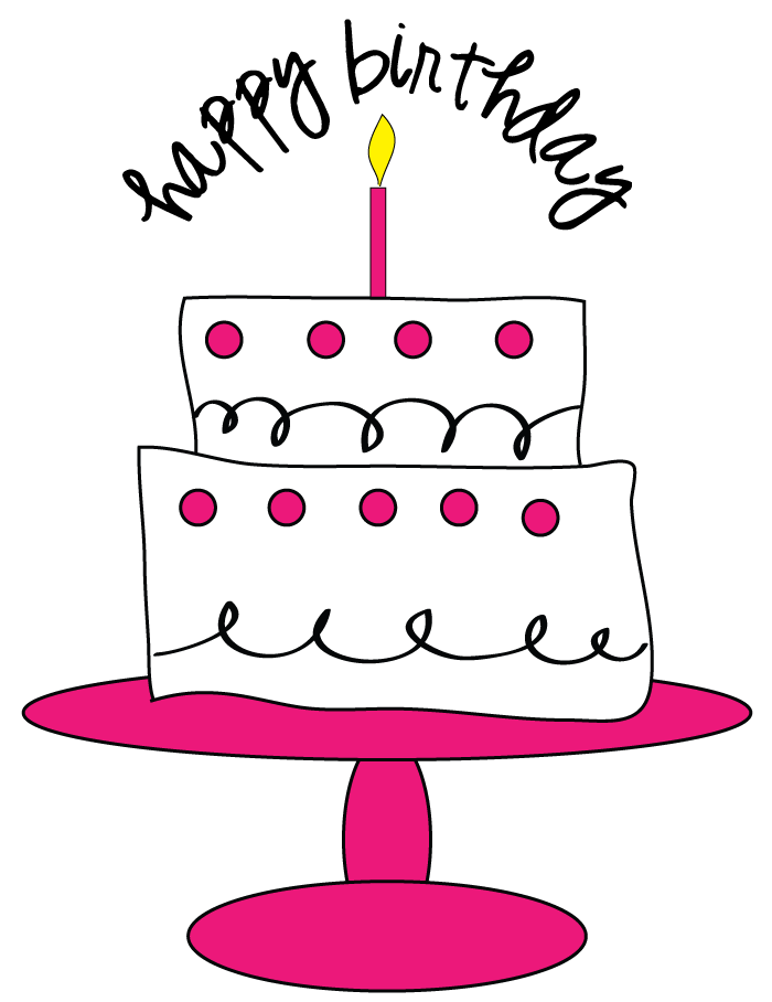 Happy Birthday Black And White Clipart - Clipart Kid
