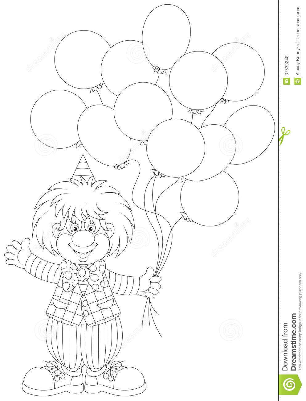 Clown with balloons coloring pages  Hellokidscom