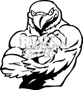Falcon Football Clipart