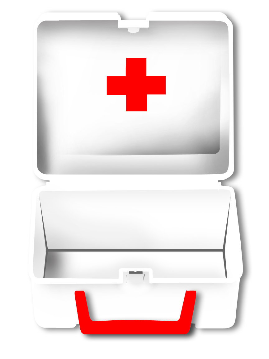 First Aid Kit Black And White Clipart Clipart Suggest