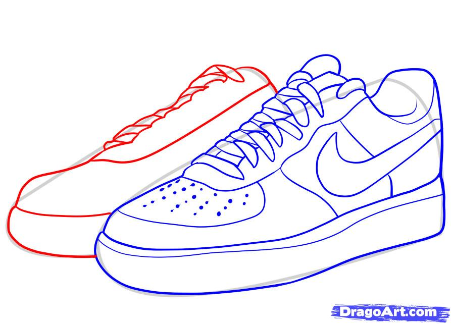 How To Shade And Draw Laces On Shoes