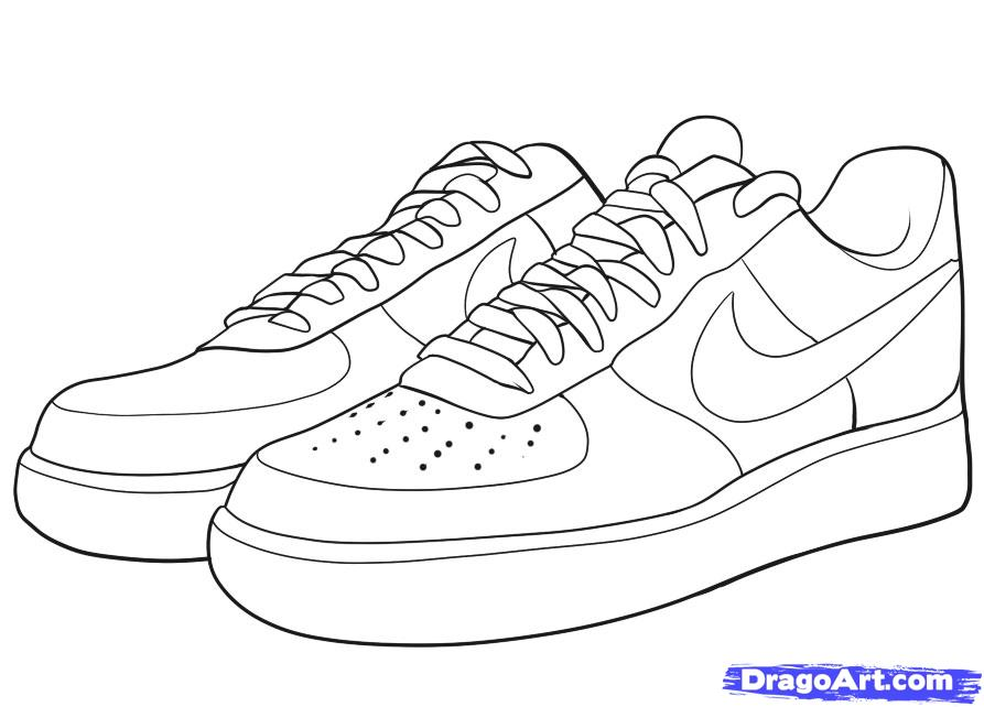Nike Jordans Shoes Drawings Clipart - Clipart Kid