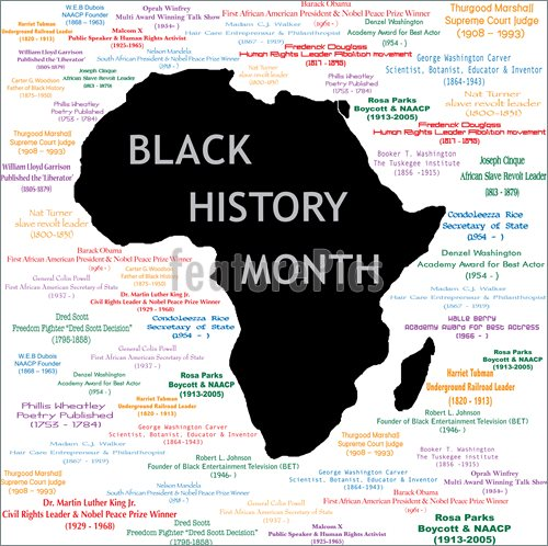 Illustration Of Black History Month Collage  Royalty Free Vector At