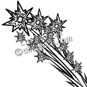 July 4th Clip Art Black And White