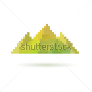 Mountain Abstract Isolated On A White Backgrounds Vector Illustration