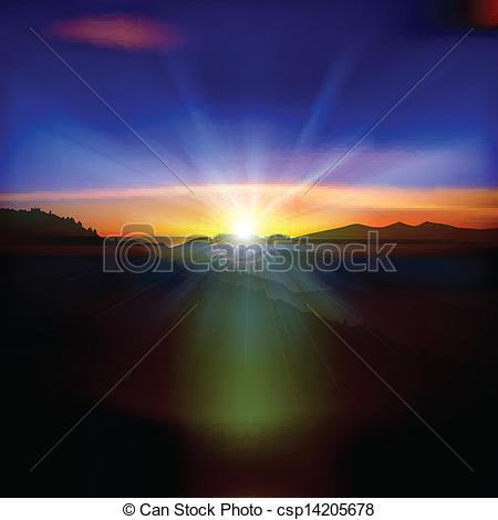 Of Abstract Background With Sunset And Mountains   Abstract
