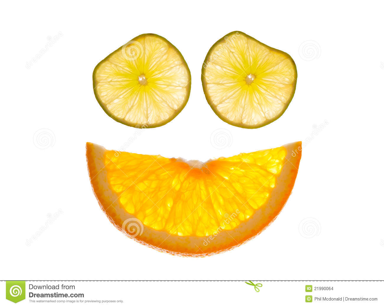 Of Orange And Lime Citrus Slices Arranged To Form A Smiley Face