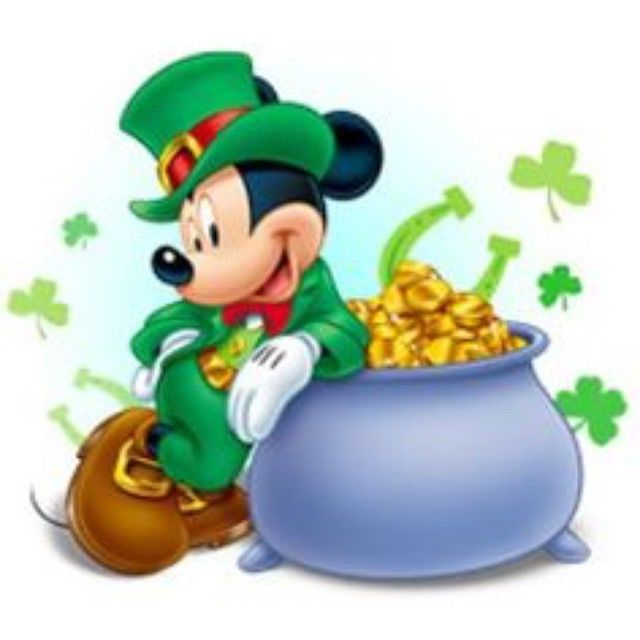 Mickey Mouse And Minnie St. Patrick's Day Animated Of On Clipart ...