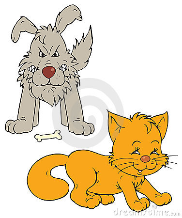 Cat And Dog  Vector Clip Art  Royalty Free Stock Image   Image