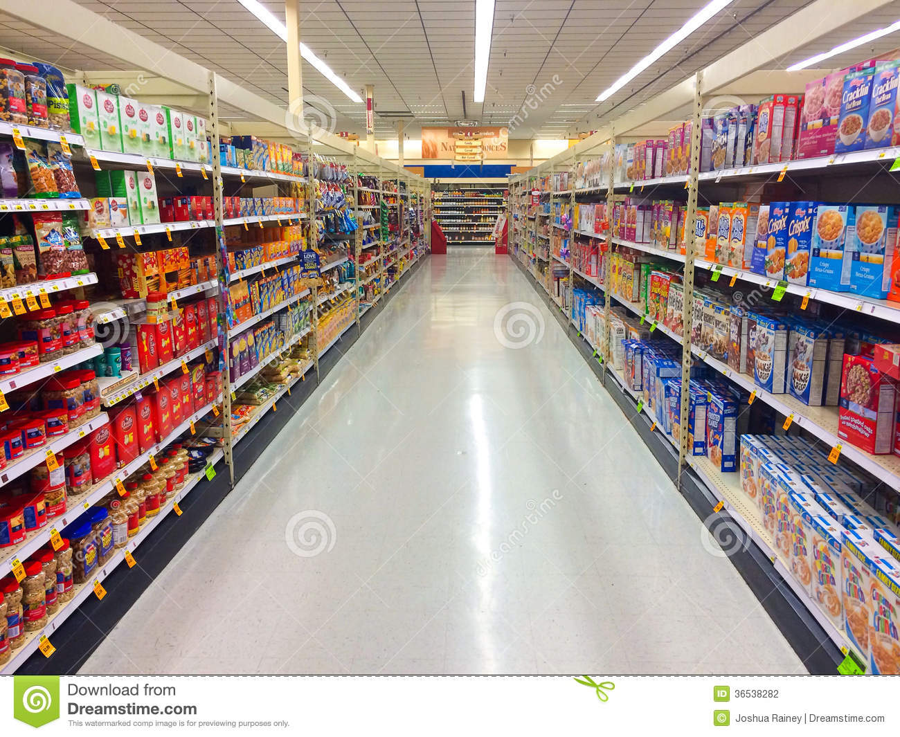 Cereal Aisle Fred Meyer Springfield Or Editorial Photography   Image