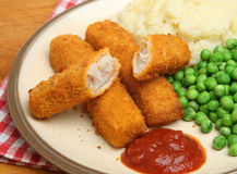 Fish Fingers Or Stick Meal Stock Images
