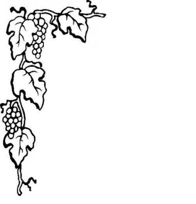 Grape Leaf Border Clipart - Clipart Suggest