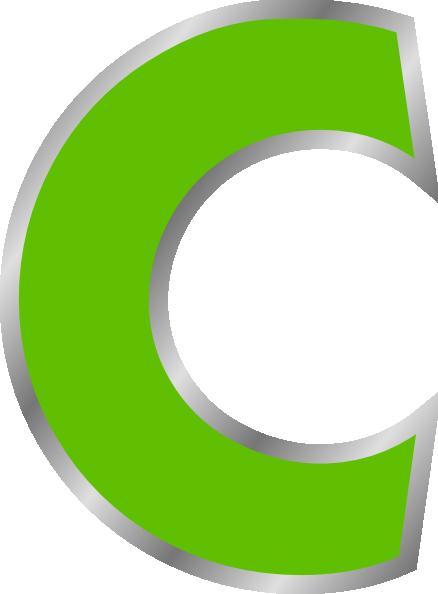 Green Letter C Clip Art