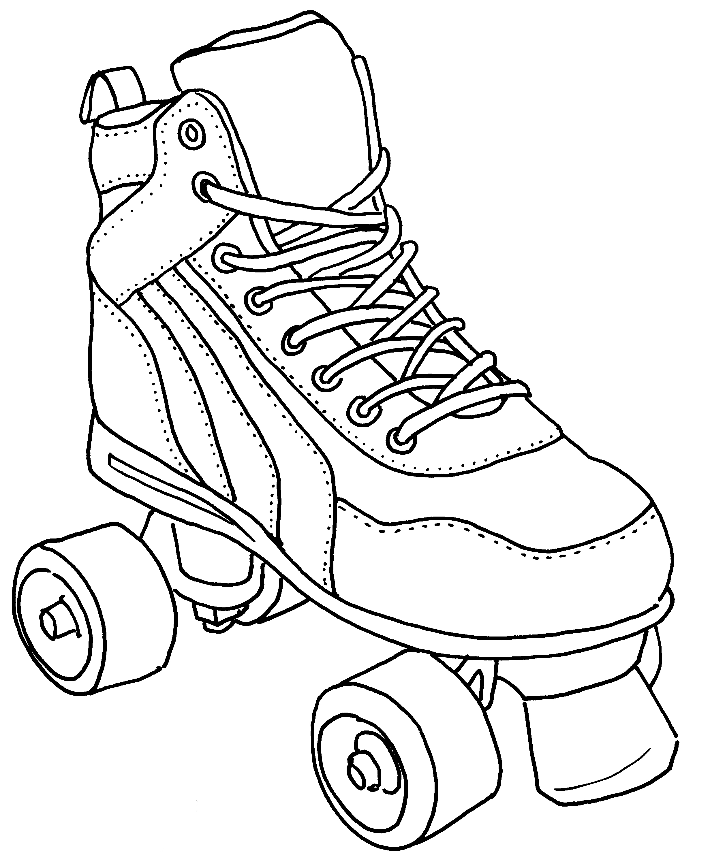 Free Roller Skate Coloring Pages - Fun Color Page