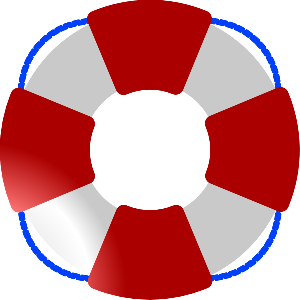 Life Saver Red White Blue Clip Art At Clker Com   Vector Clip Art