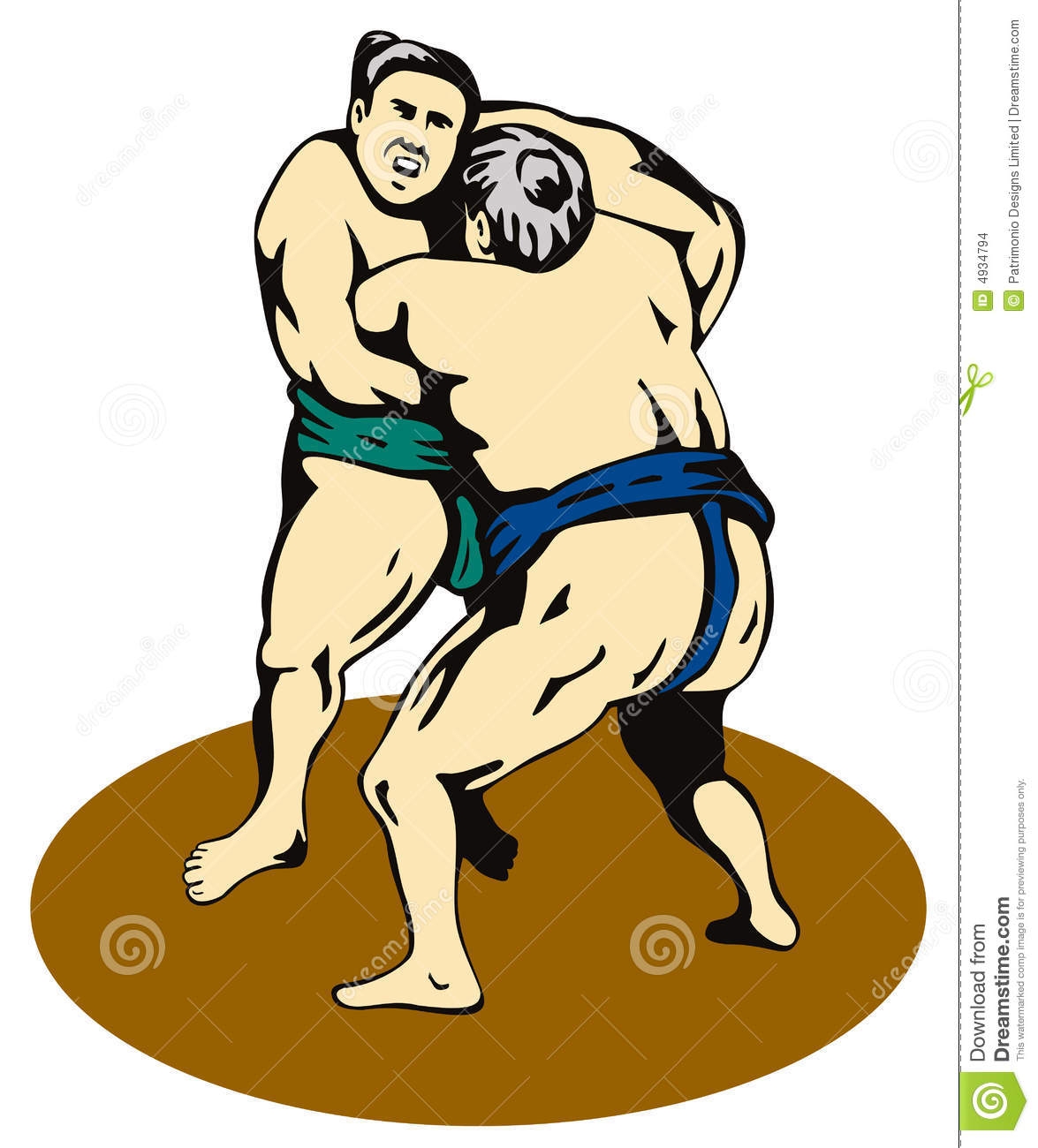 More Similar Stock Images Of   Sumo Wrestlers Fighting