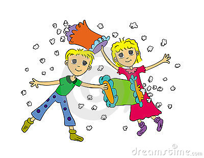 Pillow Fight Clipart Image Search Results