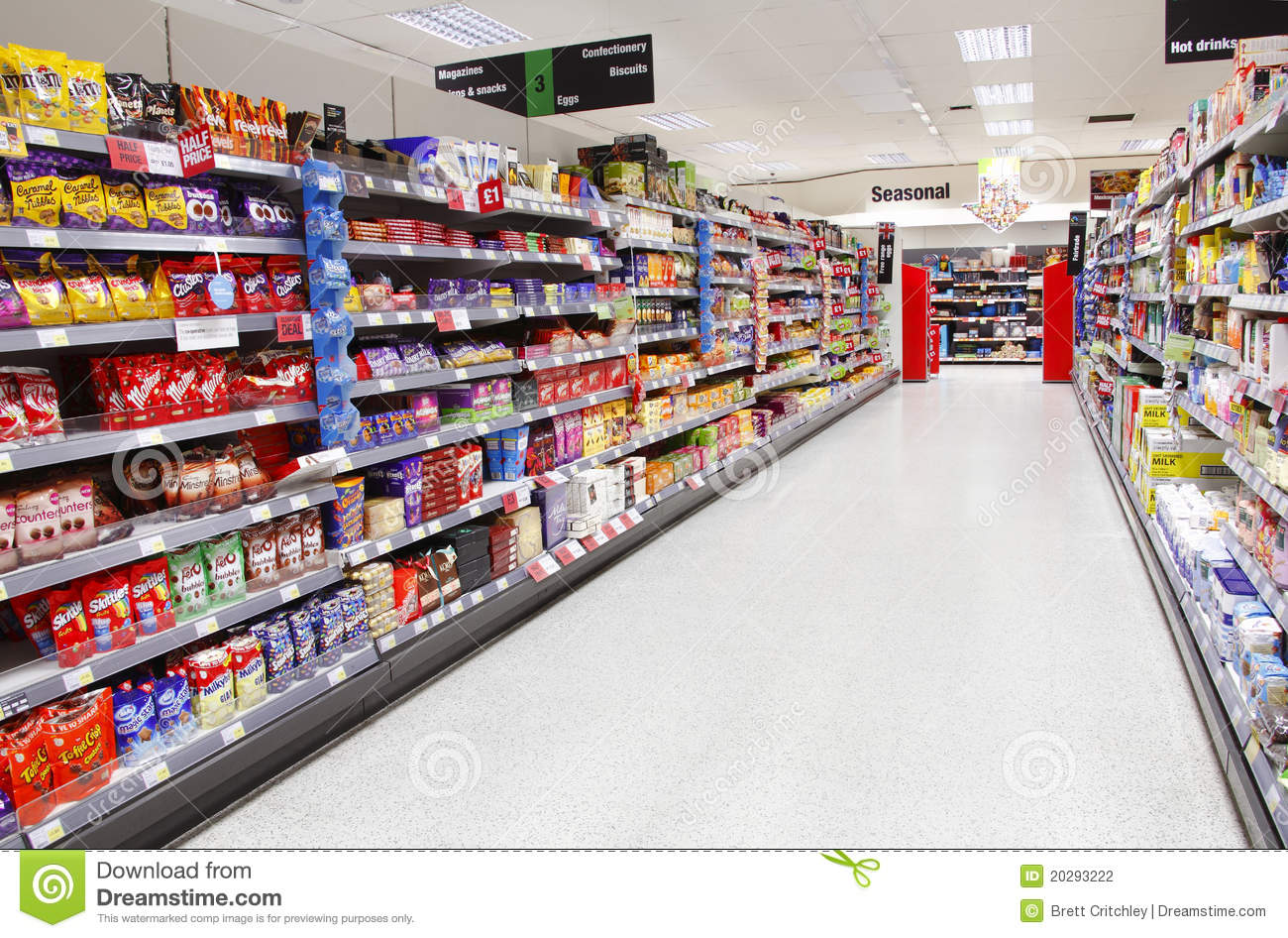 Supermarket Aisle Empty Editorial Photography   Image  20293222