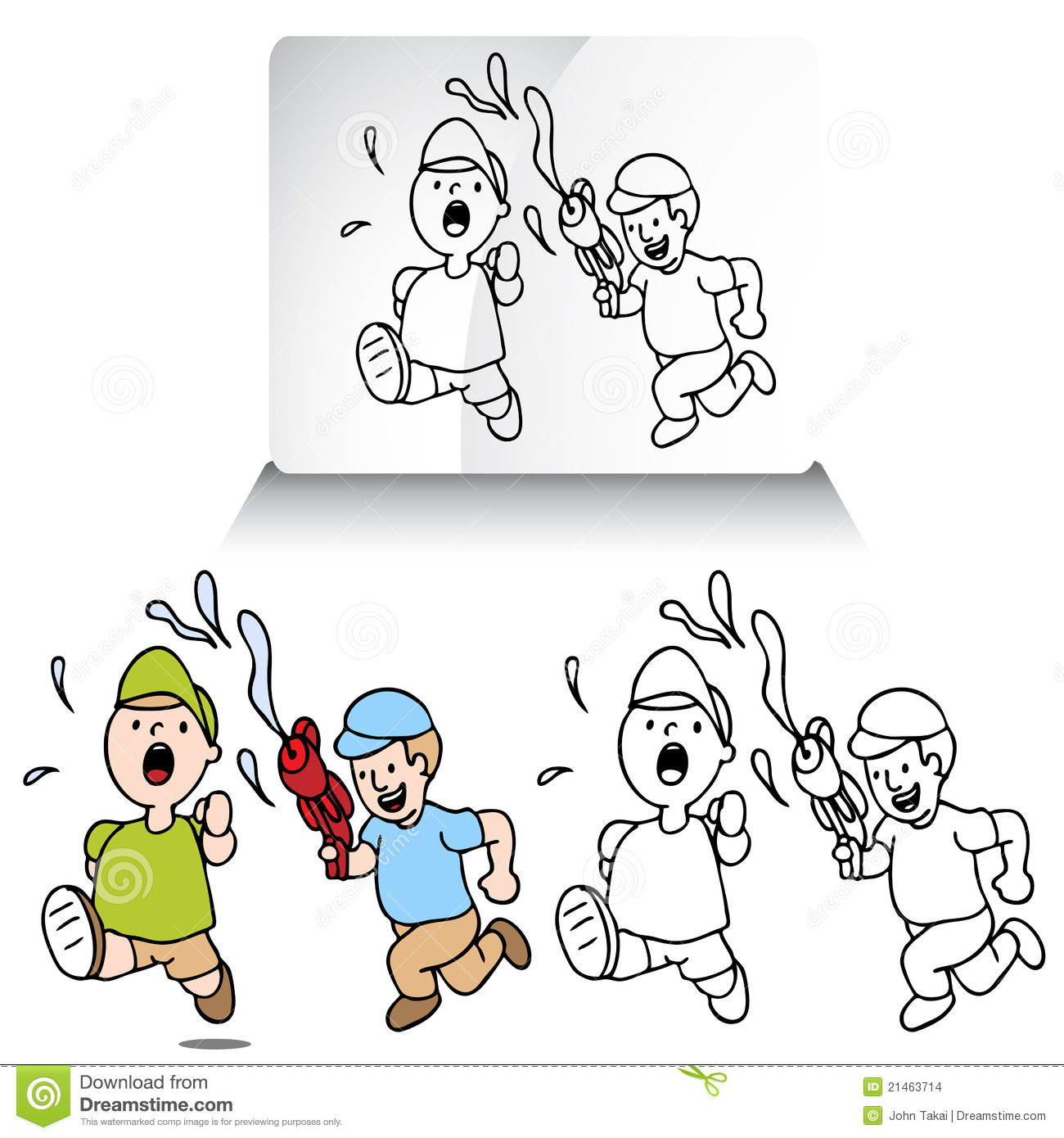 Water Fight Clipart Water Gun Clipart Water Balloon Fight Water