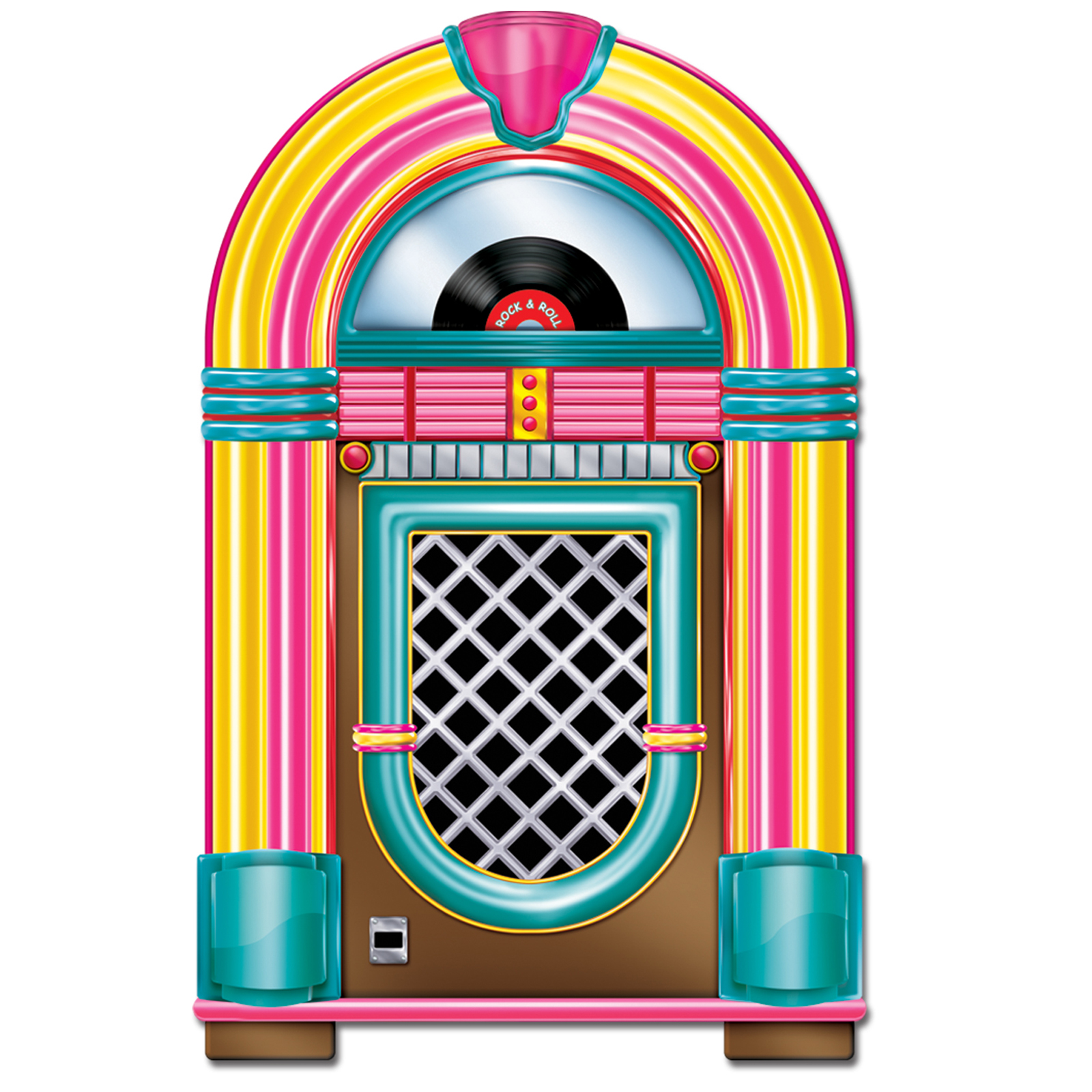 1950 S Jukebox Cutout   Thepartyworks