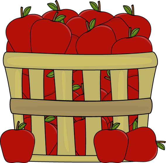 Apples In A Basket Clip Art   Apples In A Basket Image