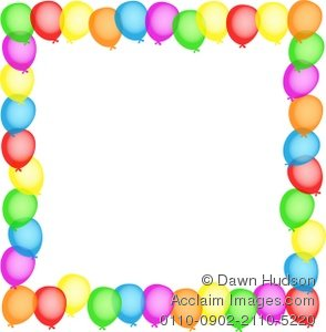 Balloon Designs Pictures  Balloon Borders Clipart