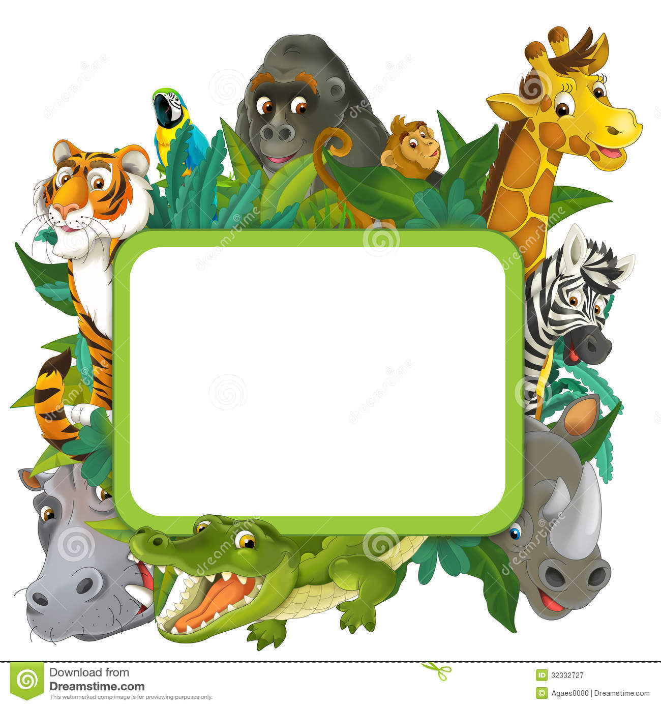 Banner   Frame   Border   Jungle Safari Theme   Illustration For The