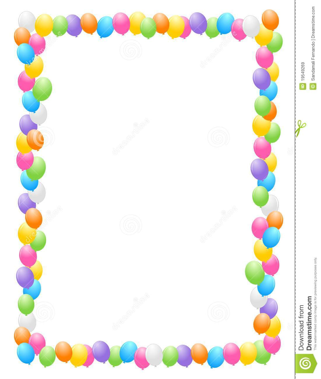 Border   Frame Illustration For Birthday Cards And Party Backgrounds