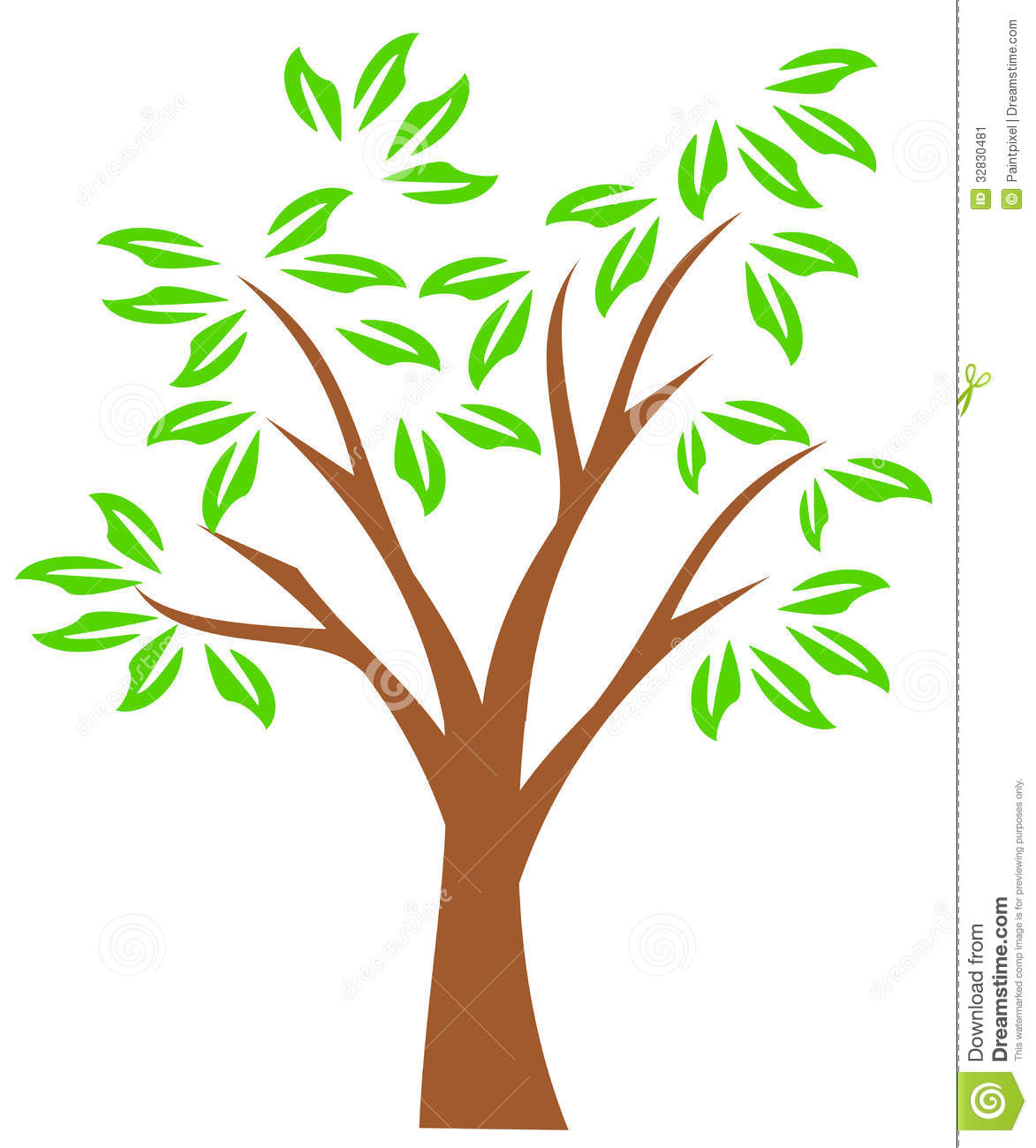Clip Art Family Tree Outline Summer Tree Clipart Spring Tree Clipart