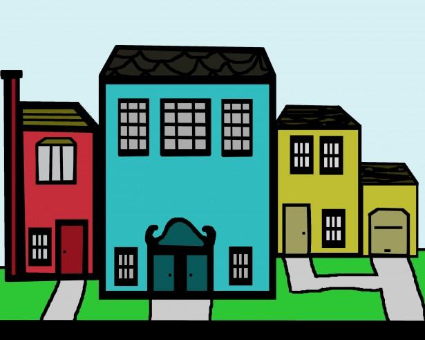 Neighborhood Street Clipart - Clipart Kid