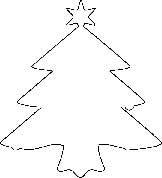 Clipart Christmas Tree Outline Clipart Panda Free Clipart Images