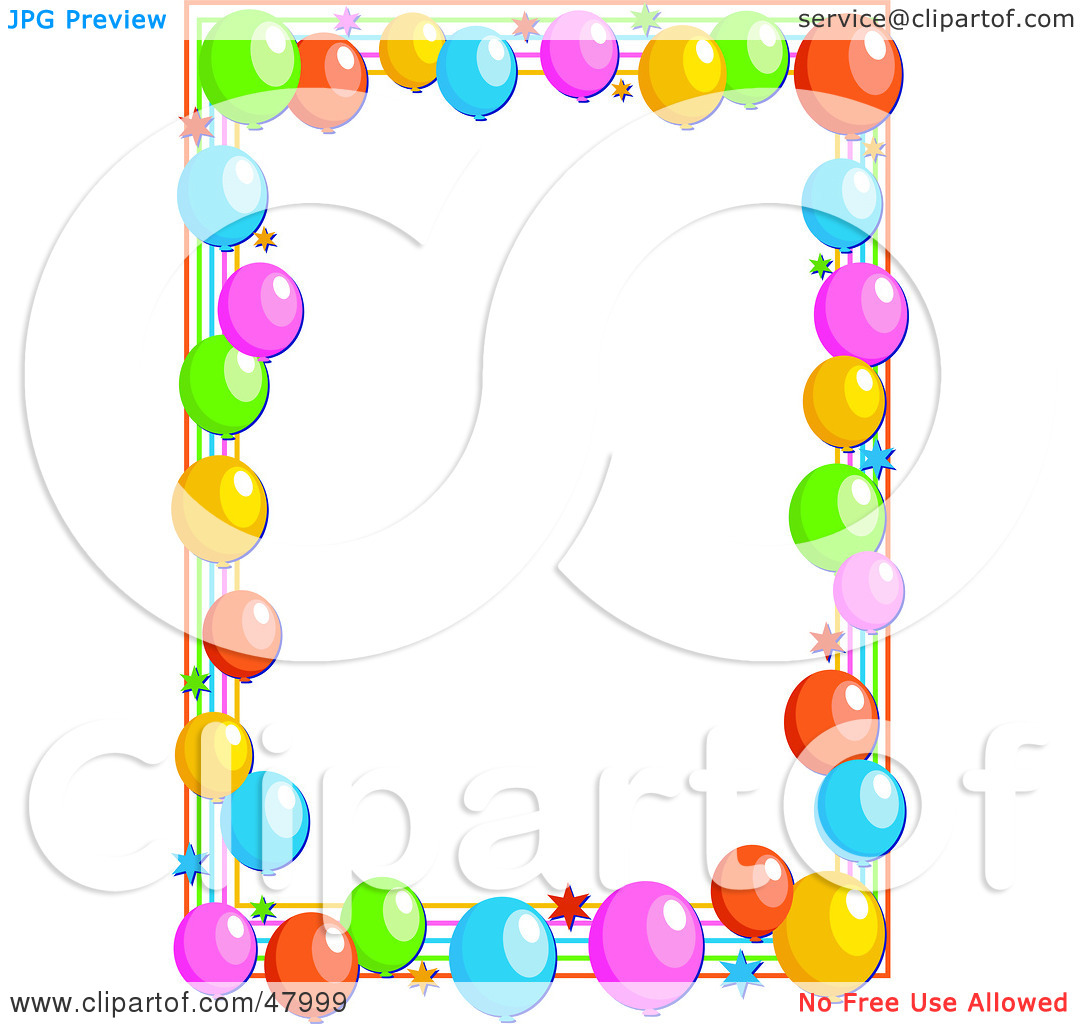Clipart Party Balloon Border Car Pictures