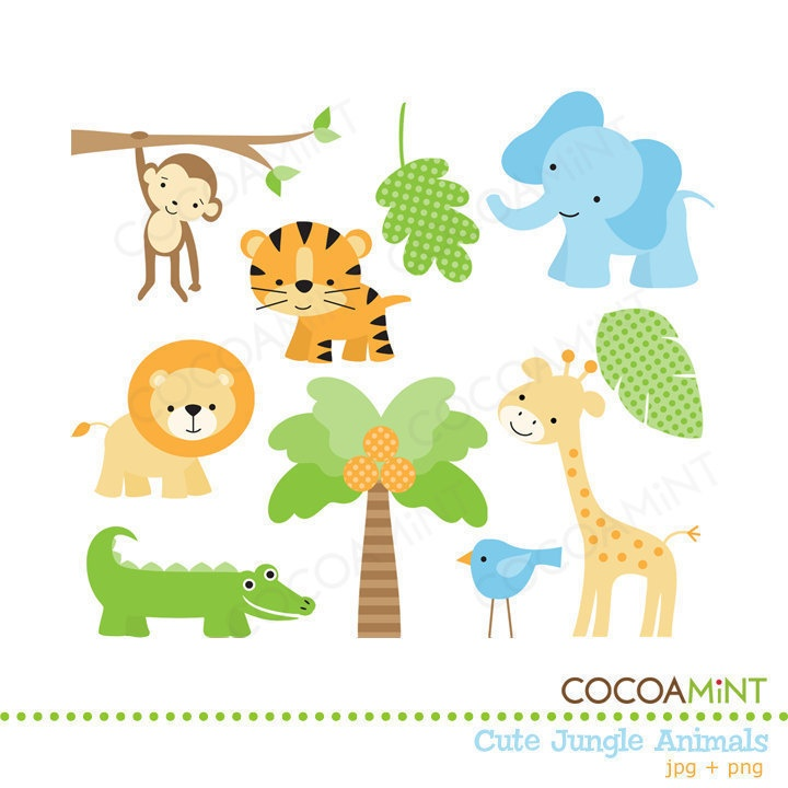 Baby Safari Animals Clipart - Clipart Kid