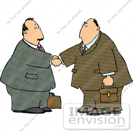 Free Business Clipart Of Two Middle Aged Caucasian Business Men