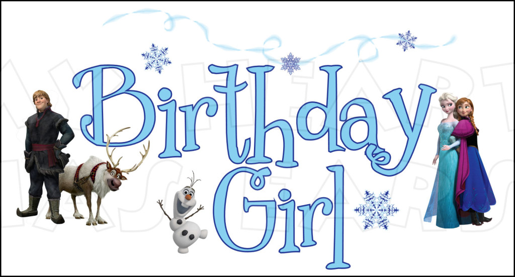 Frozen Birthday Girl Instant Download Digital Clip Art    My Heart Has