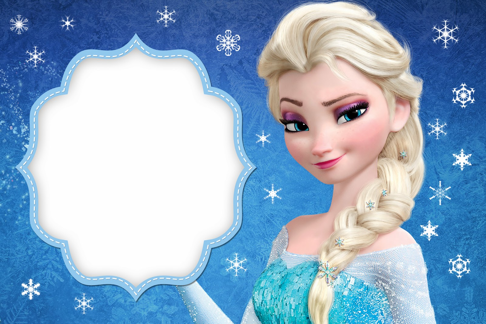 Frozen  Free Printable Cards Or Party Invitations    Oh My Fiesta  In