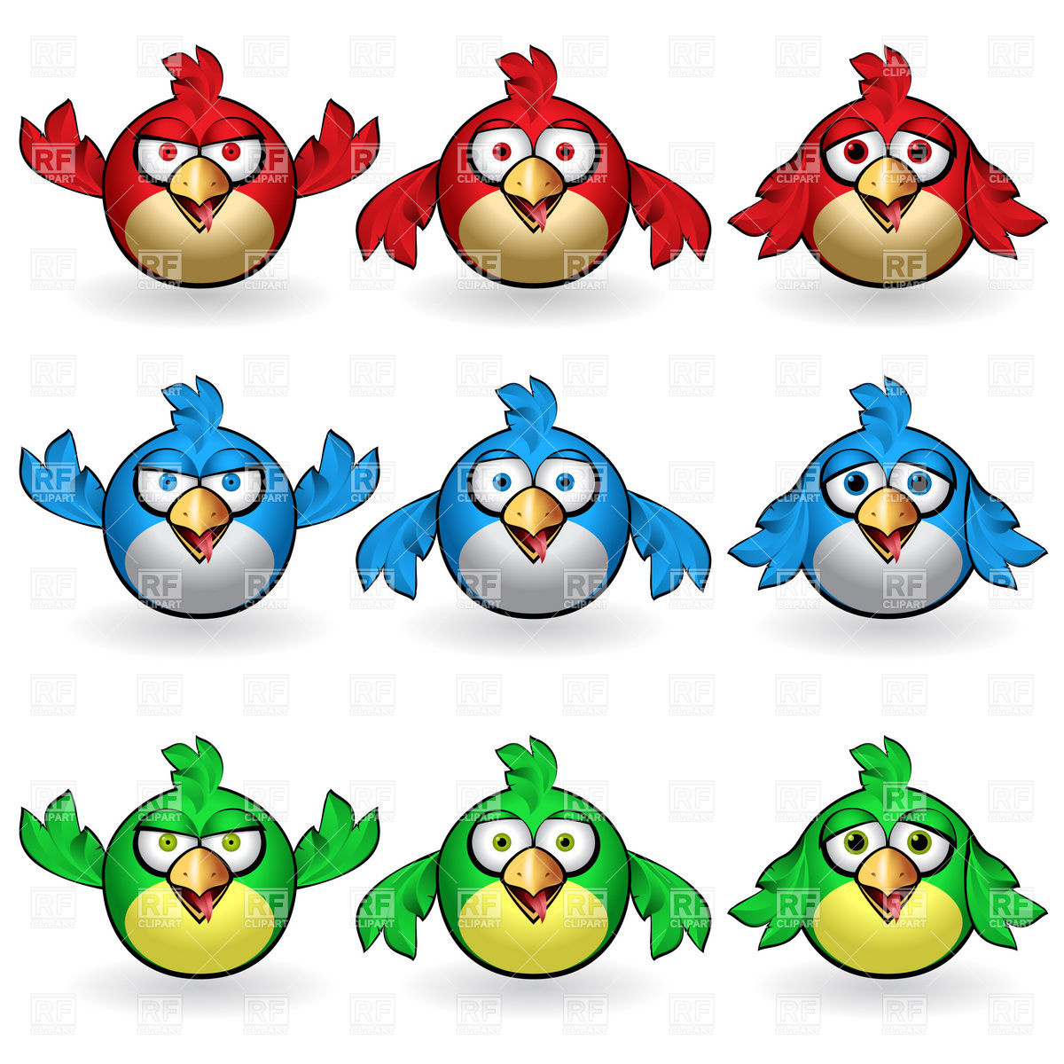 Funny Animal Clipart Symbolic Funny Birds Download