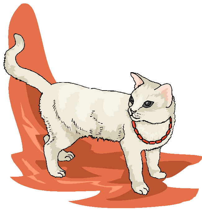 Funny White Cat Walking Free Animal Clipart   Free Microsoft Clipart