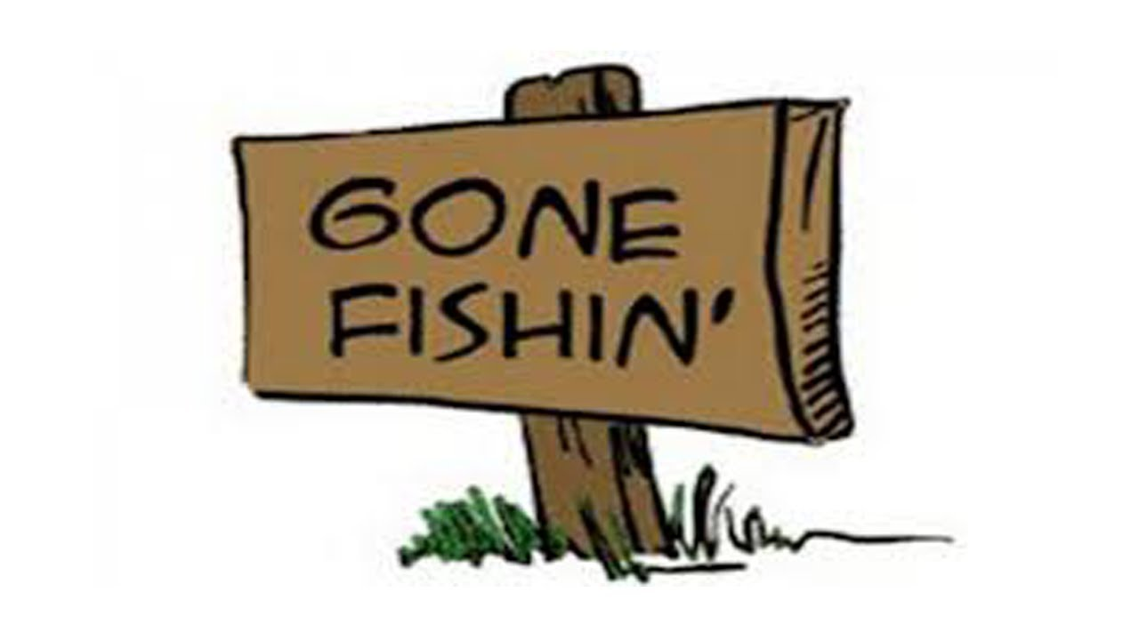 Gone fishing png