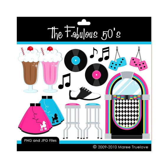 Clip Art 50s Clip Art 50s sock hop clipart kid graphics for personal or commercial use clip art and sock