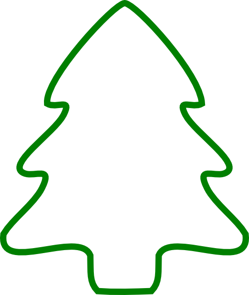 Green Christmas Tree Outline Clip Art At Clker Com   Vector Clip Art