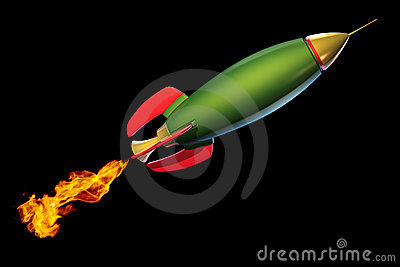 Green Rocket Royalty Free Stock Image   Image  15966676