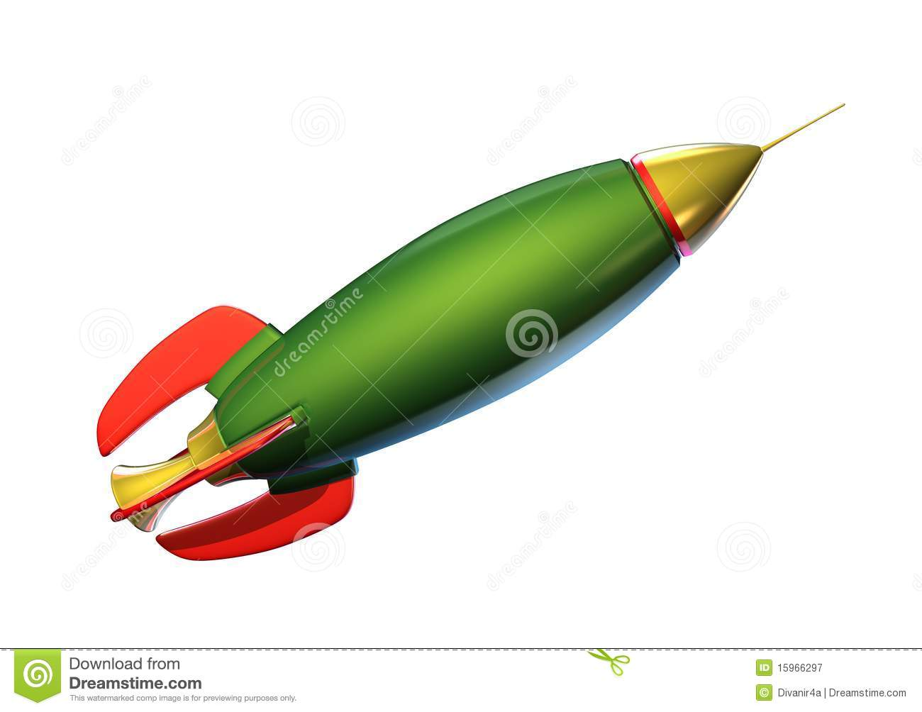 Green Rocket Royalty Free Stock Photography   Image  15966297
